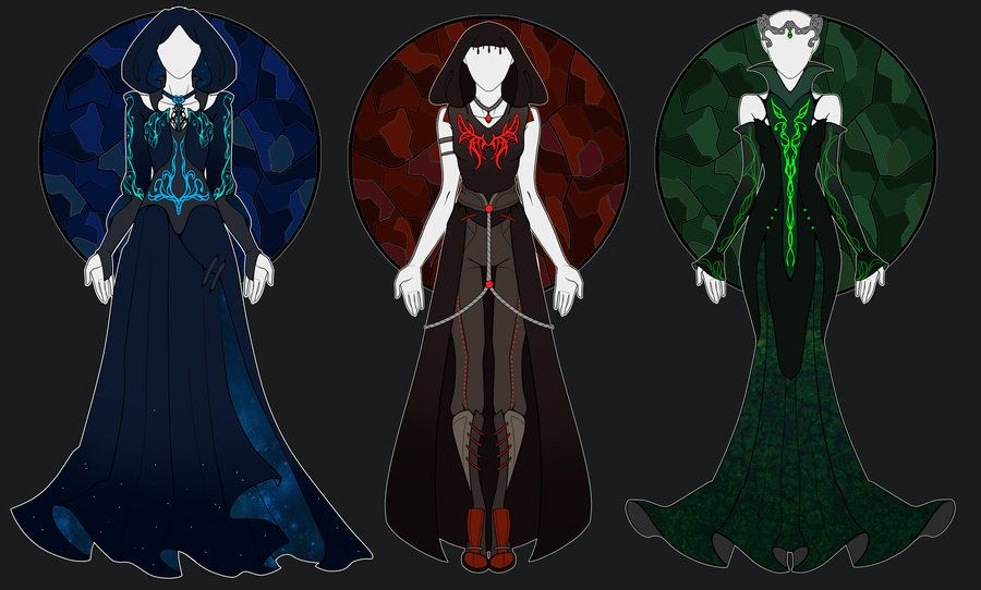 [OPEN 2/3 reduced price] Dark Magic Outfits by onavici.deviantart.com on @DeviantArt