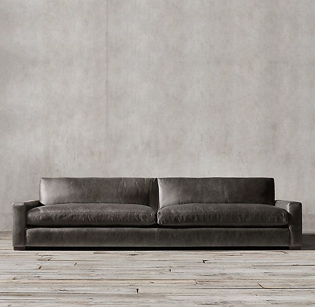 Rh 39 S Maxwell Leather Sofa Maxwell Amp 39 S Streamlined Design