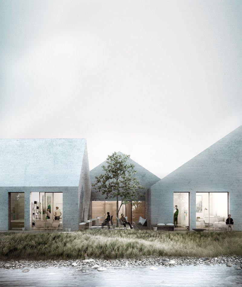 Architektur Rendering åhusene in helsingør denmark we architecture architektur visualisierung