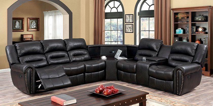 Elegant Design Of Sectional Sofas With Cup Holders Sofa Sofadesign Sofaideas Section Reclining Sectional Furniture Of America Sectional Sofa With Recliner