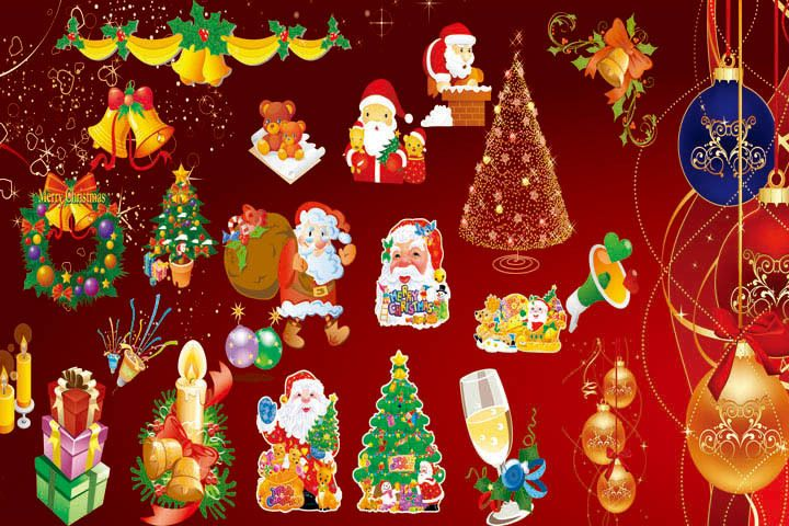 12 Christmas Photoshop Brushes For Download Christmas Free Christmas 12 Christmas