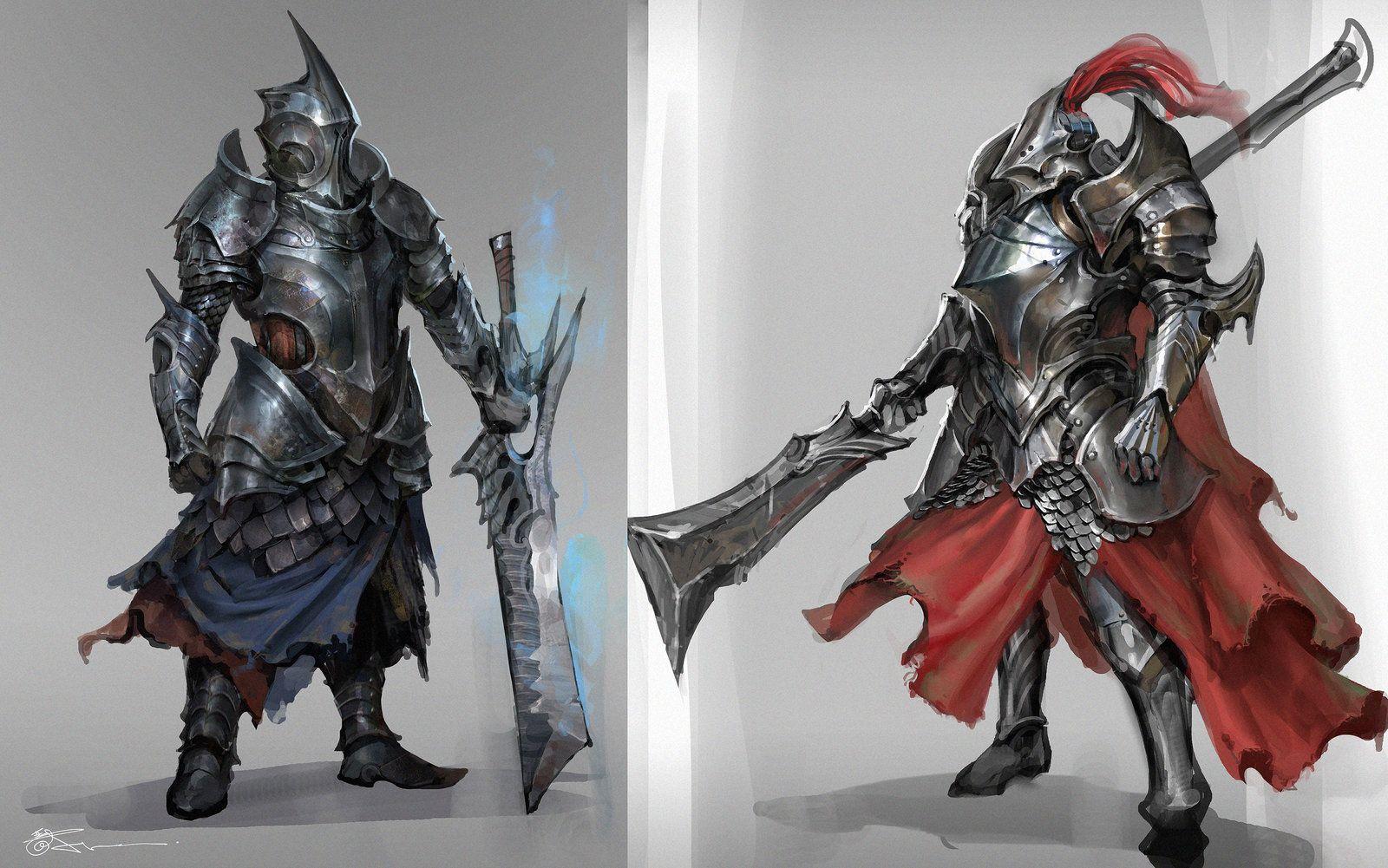 Knight Armor sketch, jeremy chong on ArtStation at https ...