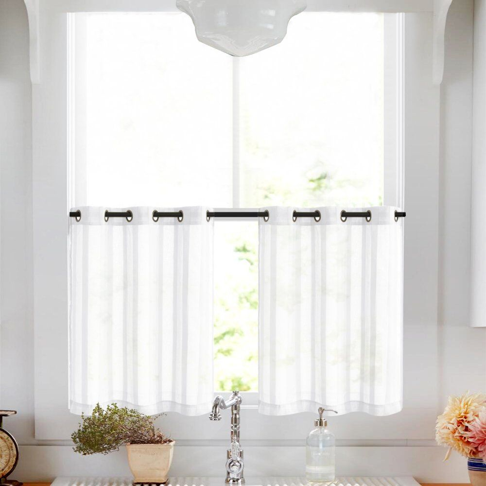 Kitchen Tier Curtains 24 Inch White Tier Curtains For Bathroom