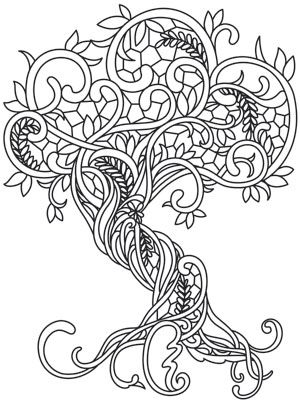 Coloring Page World: Gossamer Woods - Gnarly Roots | Free Printable ...