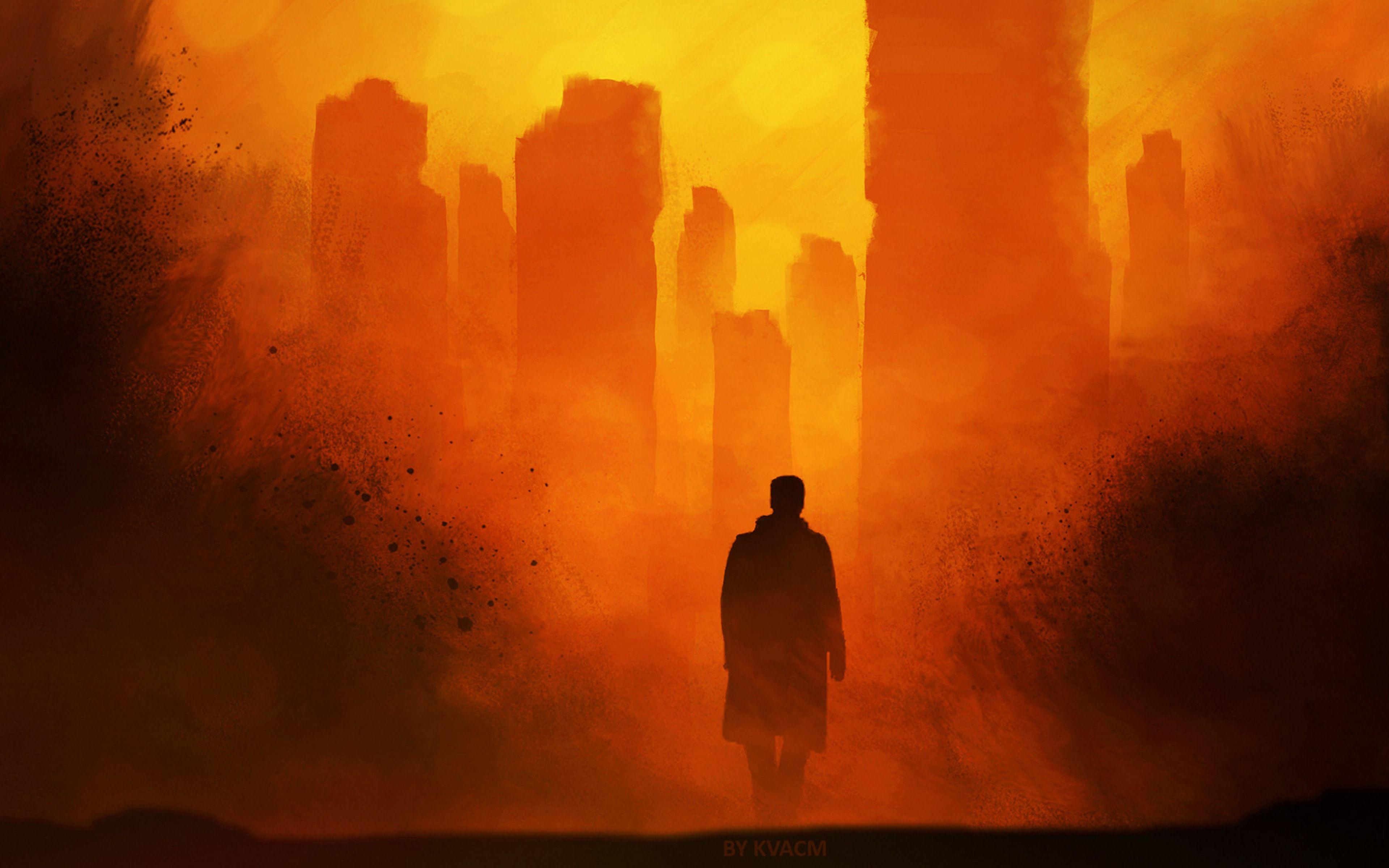 Desktophdwallpaper Org Blade Runner Wallpaper Blade Runner City Artwork