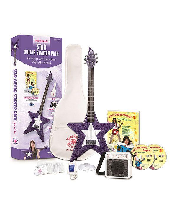 totally amazing electric guitars for kids star flower girl 39 s electric guitar starter set star. Black Bedroom Furniture Sets. Home Design Ideas
