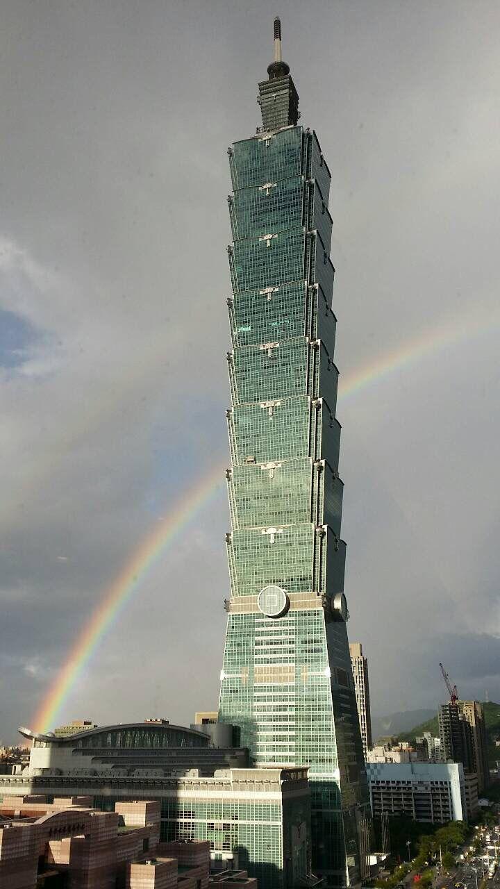 Rainbow with Taipei101