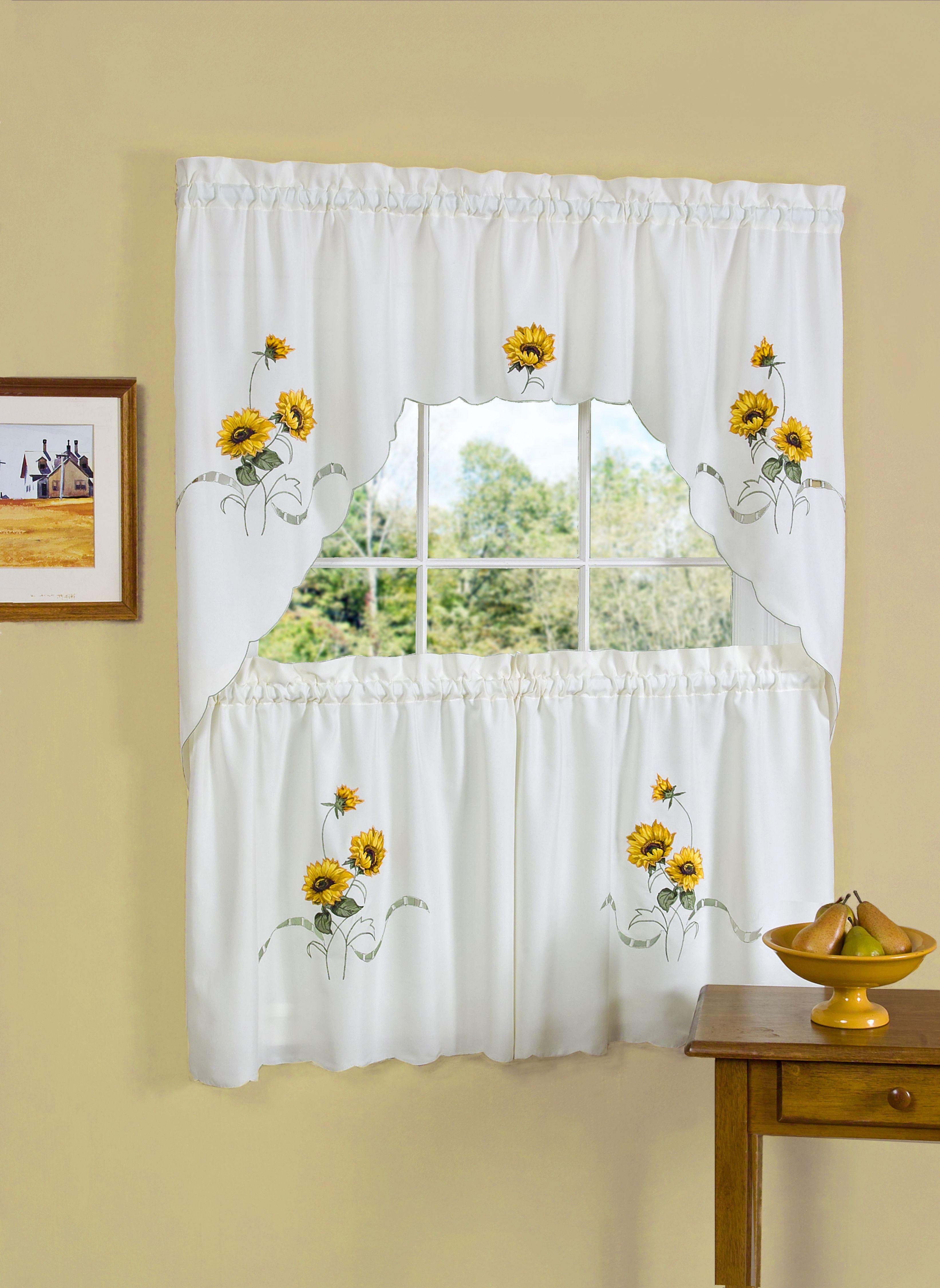 Sears Com Sunflower Curtains Kitchen Curtain Sets