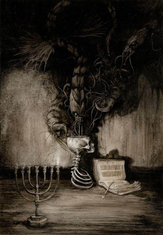 Illustration for the book project Los Demonios del Lugar by Ángel Olgoso   Santiago Caruso