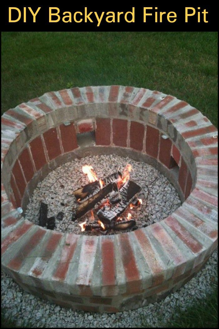 Build a brick fire pit for your backyard in 2020 | Fire ...