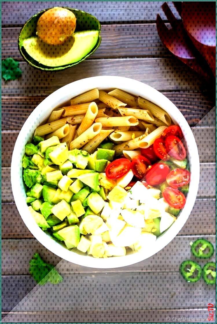 Deviled Egg Pasta Salad with Avocado Recipe  ChefDeHome Deviled Egg Pasta Salad with Avocado Recipe
