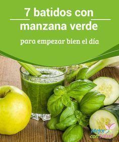 7 batidos con manzana verde para empezar bien el día  Cuando la combinas con otros ingredientes, puedes obtener batidos con manzana verde que te ayudarán de gran manera a empezar bien tu día.