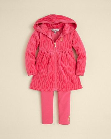 651a7dbe6 Juicy Couture Infant Girls Jaquard Terry Velour Tracksuit - Sizes 3-24  Months | Bloomingdales