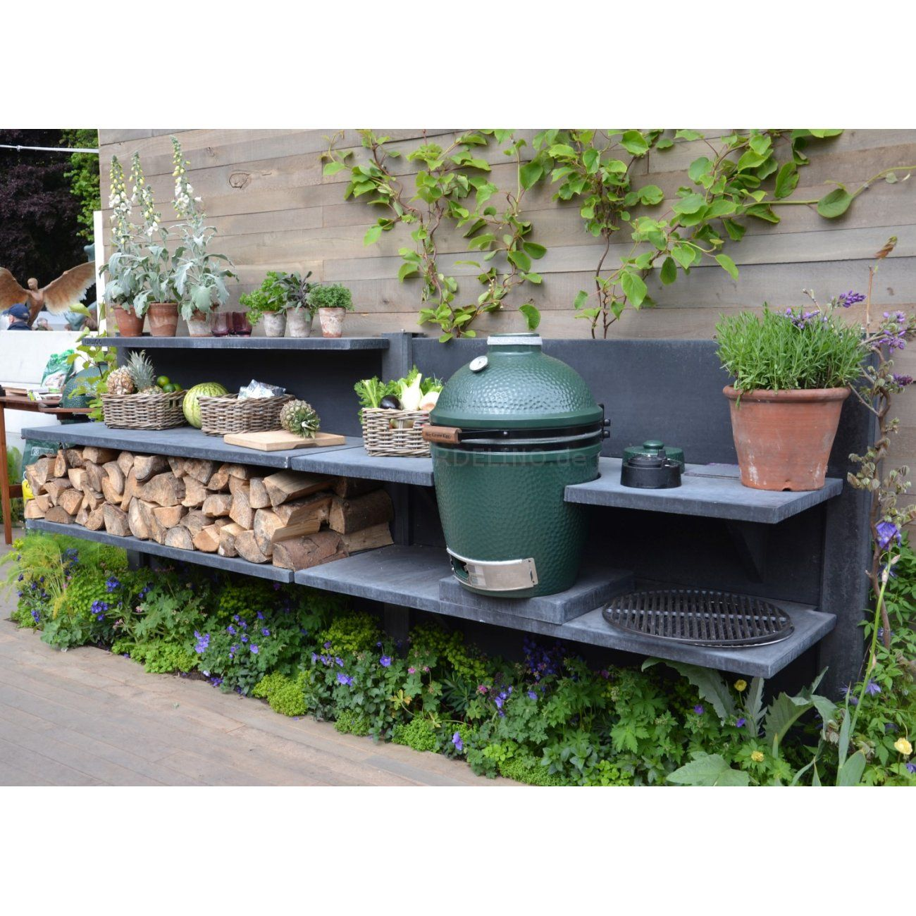 Backyard Kitchen Garden: Modulare Beton Outdoor Küche