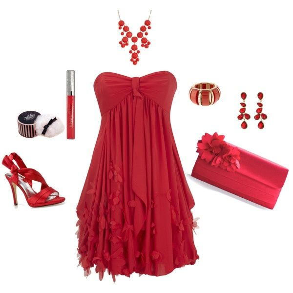 polyvore valentines day casual red short long dresses ideas for girls women 2014 8 polyvore valentines - Valentine Dresses For Girls