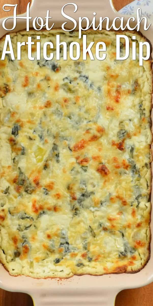 Hot Spinach Artichoke Dip #easyappetizersforaparty