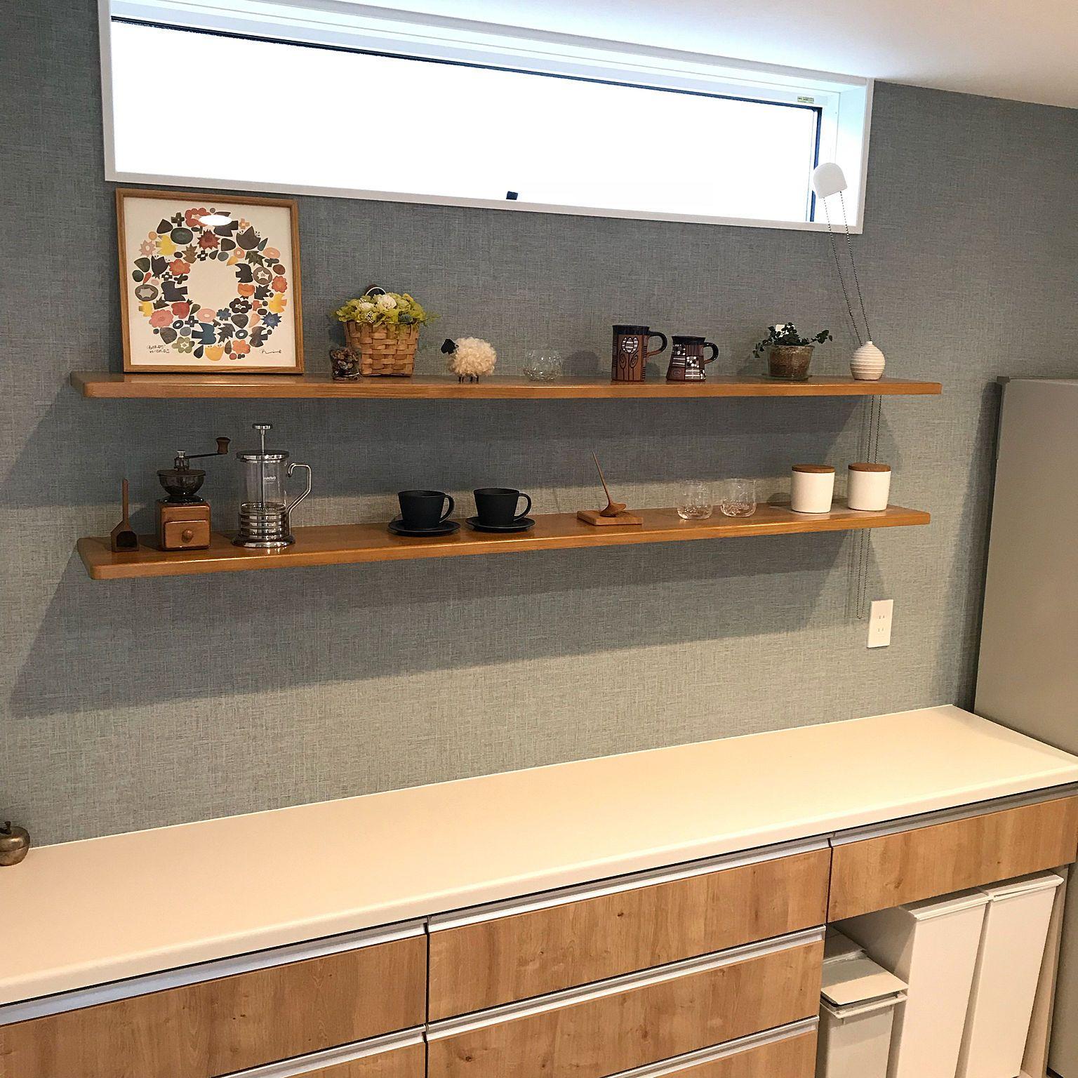 キッチン クードゴミ箱 カップボード Lixil ライトグレイン などのインテリア実例 2018 09 21 14 16 31 Roomclip ルームクリップ リビング キッチン キッチンインテリアデザイン キッチン 棚 おしゃれ
