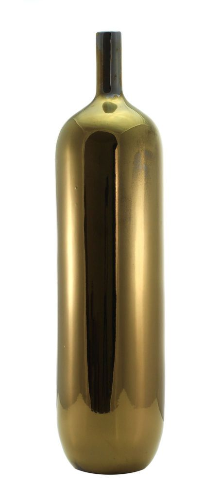 Gold Glazed Slim Effect Vase