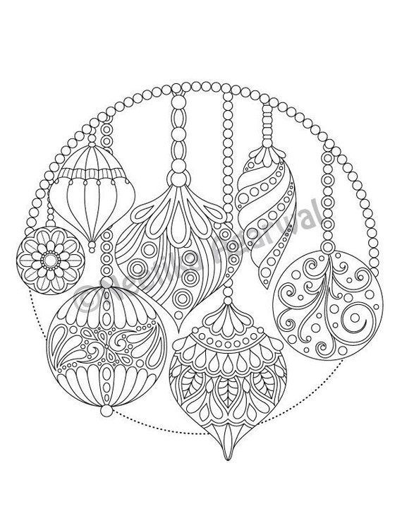 Christmas Hanging Ornaments Adult Coloring Page Christmas Coloring Page Printable Coloring Page Digital Download Christmas Coloring Pages Free Christmas Coloring Pages Printable Christmas Coloring Pages