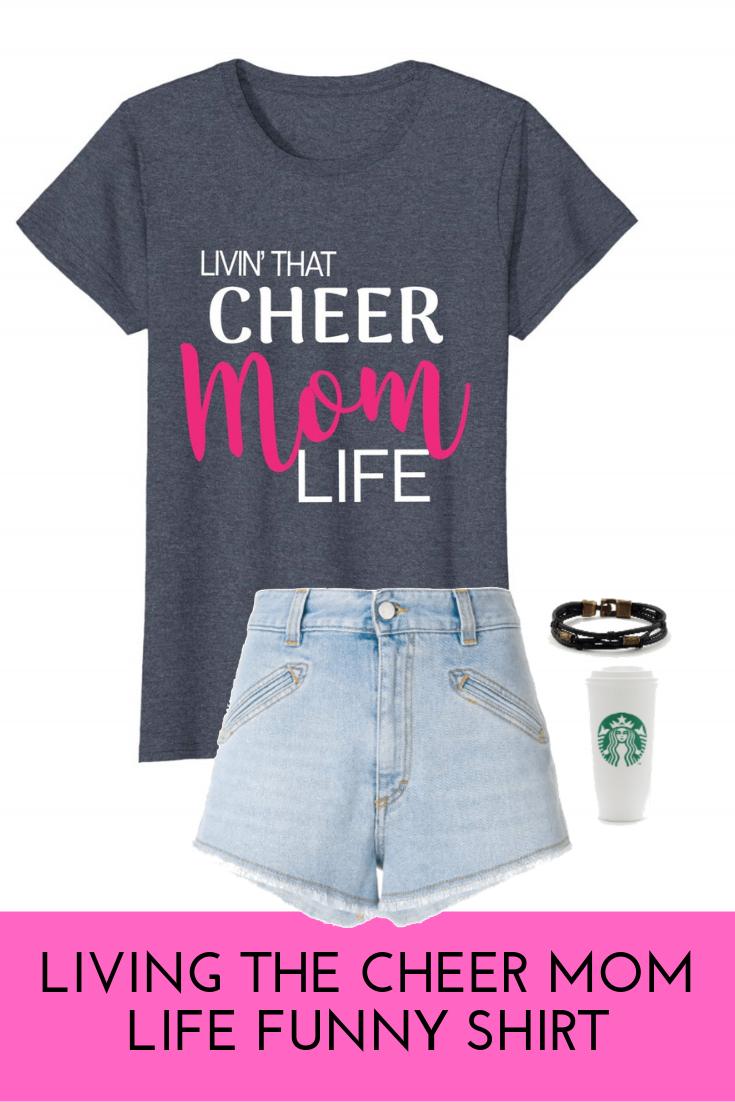 Cheer Mom Tshirts Cheer Mom Life Livin that Cheer Mom Life Womens Shirts Cheer Mom Squad Shirts Cheer Mom Shirts Mom Shirts