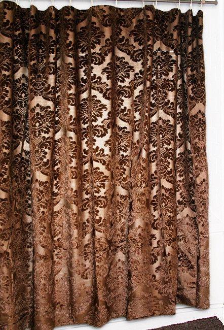 Gold Rush Damask Shower Curtain Western Shower Curtain Western