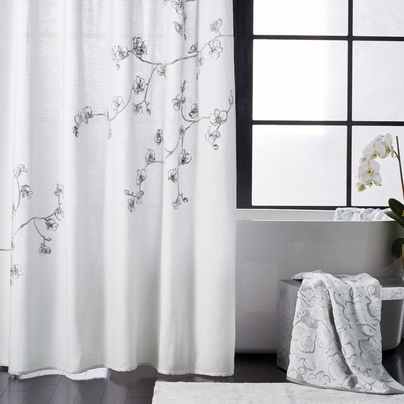 Orchid 100 Cotton Single Shower Curtain Cool Shower Curtains