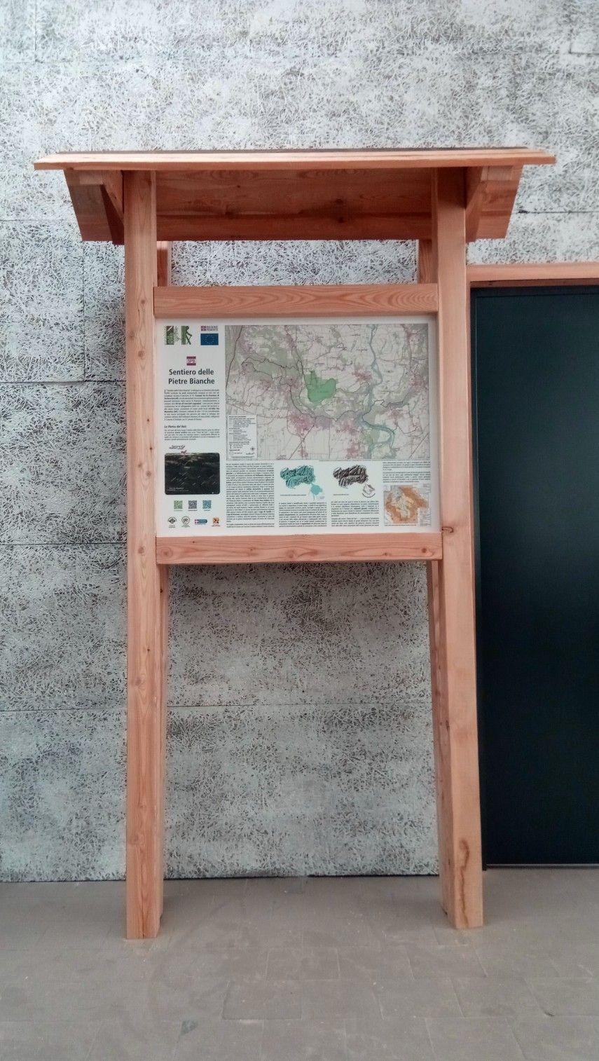 SAND ITALIA Bacheca informativa in larice   Spazi, Progetti