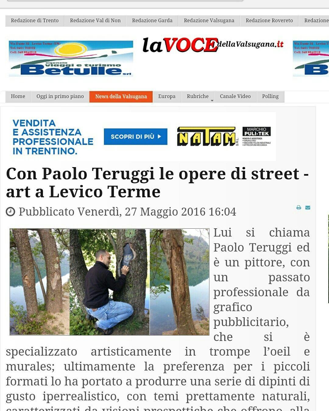 Articolo sul giornale.... il link è: http://lavocedellavalsugana.it/index.php/news-della-valsugana/4187-con-paolo-teruggi-le-opere-di-street-art-a-levico-terme