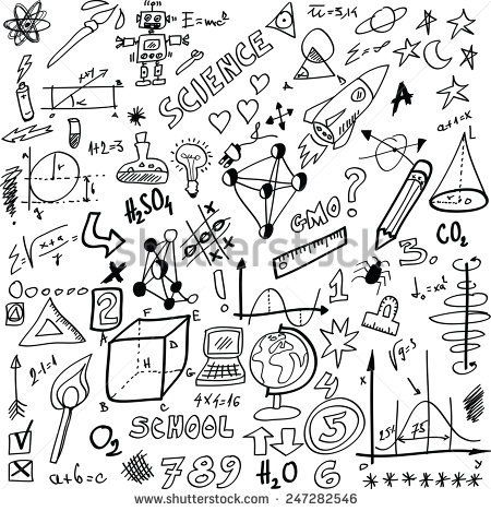 cartoon Science, vector illustration isolated on white