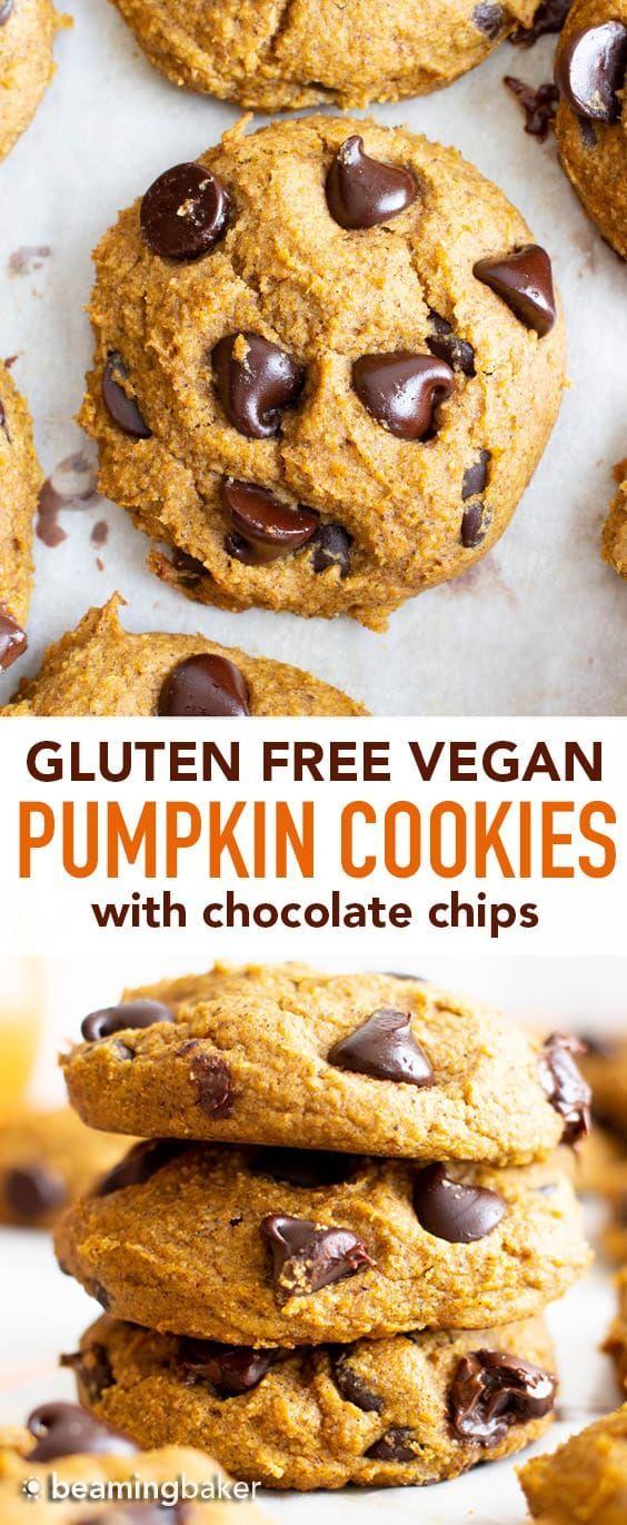 Gluten Free Pumpkin Chocolate Chip Cookies (Vegan) - Beaming Baker
