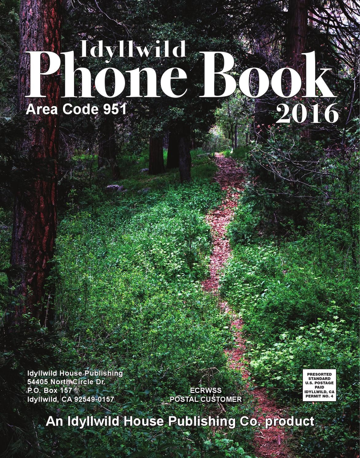 Very Up To Date Phone Book For Idyllwild CA Area Code - Area phone codes usa