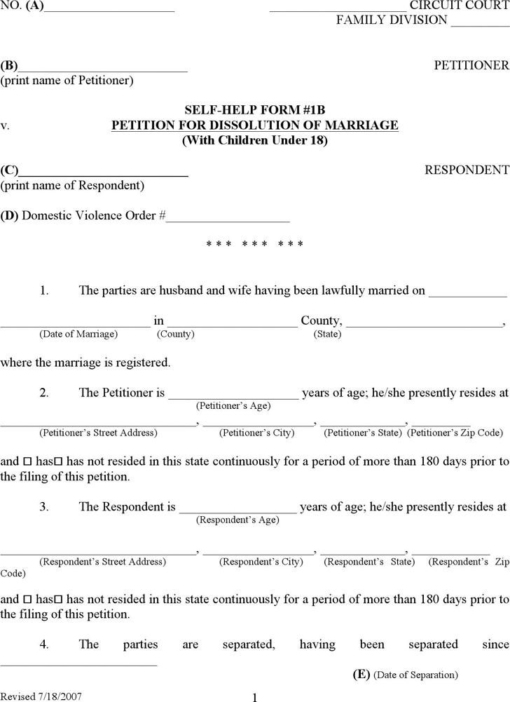 Kentucky Divorce Form Printable Divorce Papers Divorce Forms Fake Divorce Papers