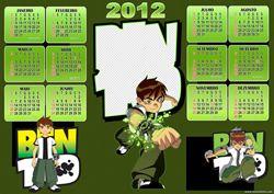 Calendário 2012 do Ben 10 | montafoto.com