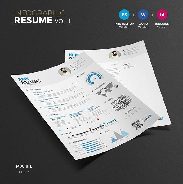 Infographic Resume Template Vol1 Misc Pinterest Infographic