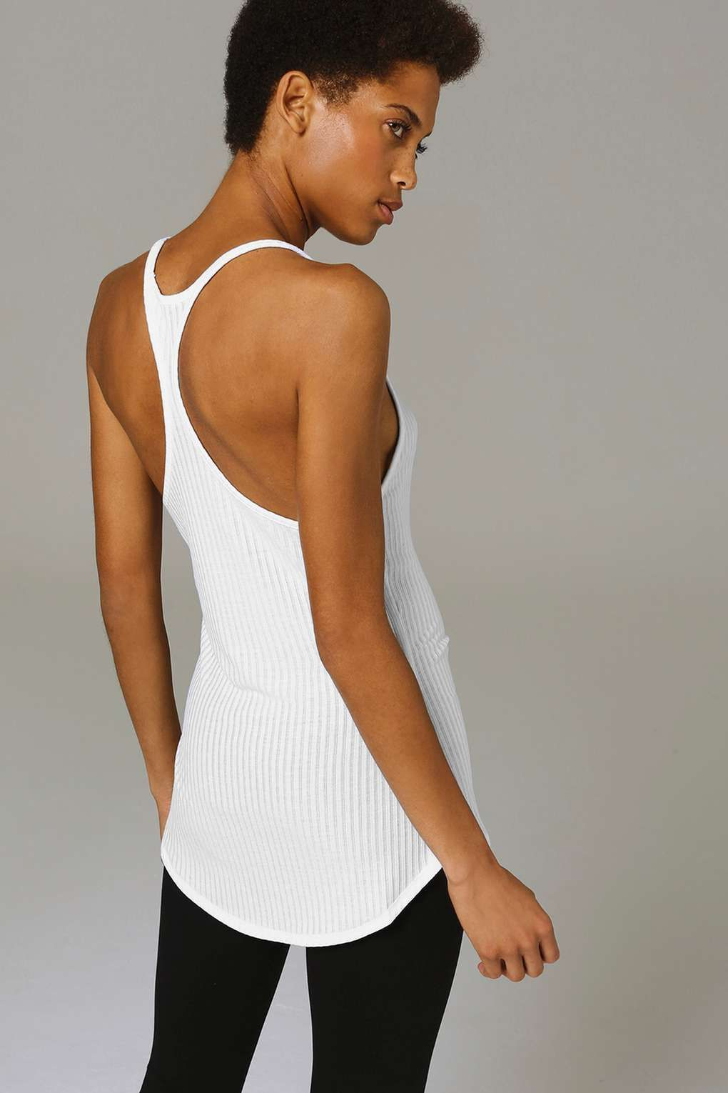 Sheer Ribbed Vest by Ivy Park - Ivy Park - Clothing - Topshop Europe