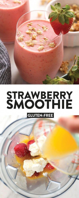 Wake up to this refreshing Strawberry Smoothie recipe. With just 4 basic ingredi...