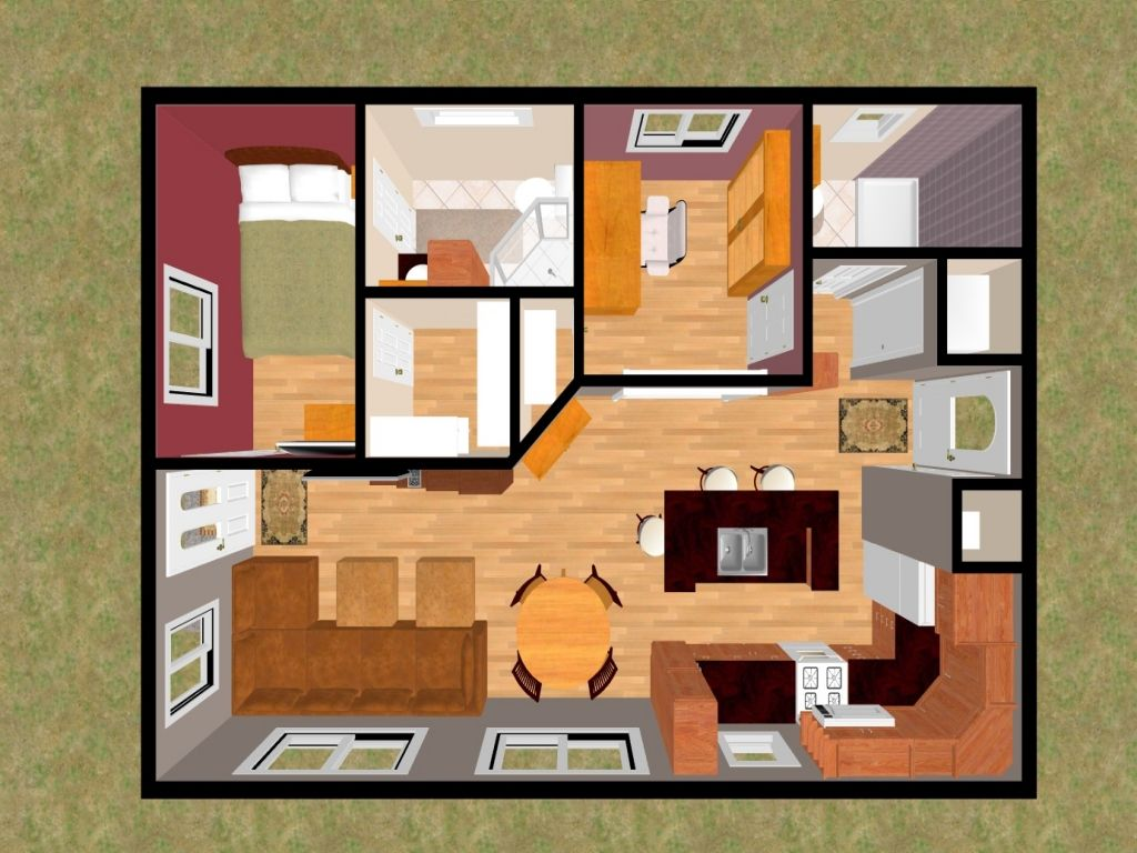 Beau Simple Small House Floor Plans Bedrooms Bedroom Apartment Open Best With  Picture One