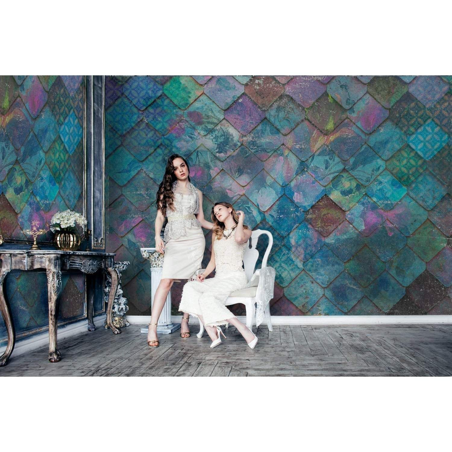 Moody Blues Colorful & Cool Design wallpaper/wall mural