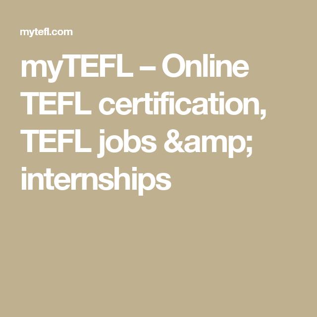 myTEFL – Online TEFL certification, TEFL jobs & internships ...