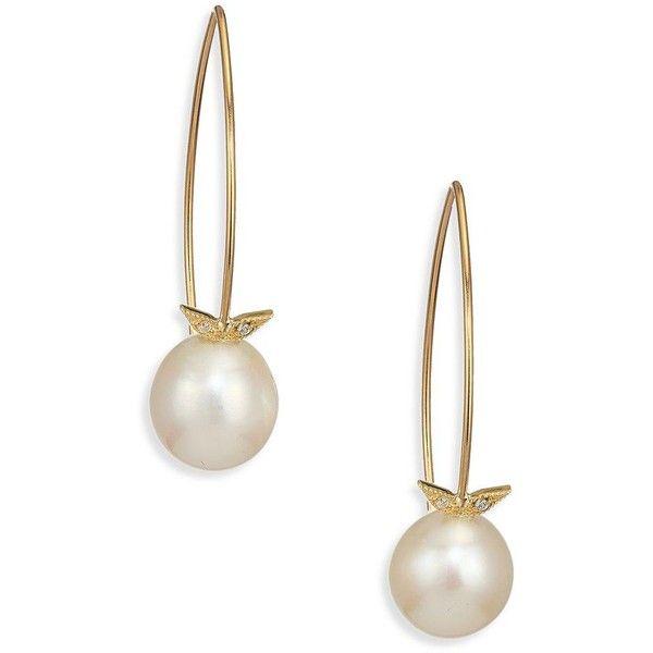 Mizuki Sea of Beauty Pearl & Diamond Drop Earrings NpgeWqa3Jk