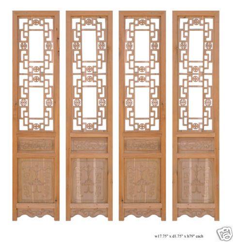 Chinese Open Dragon Pattern Wood Screen Panel Set Sy813 Ebay Wood Screens Dragon Pattern Wood Patterns