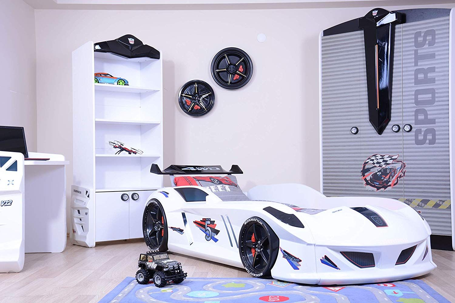 Cars Kinderbett Wondersleep Led Lights Car Kids Bed With A Mattress And Set Of Sheets. Are You Looking For A Great Present For You… | Coole Kinderbetten, Kinder Zimmer, Kinder Bett