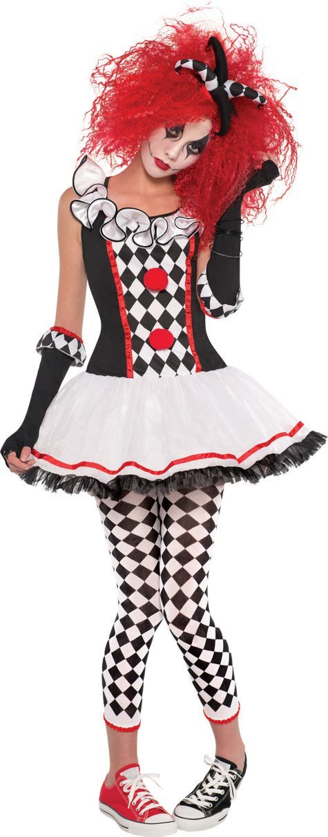 5cc97a6dde9 Teen Girls Harlequin Honey Costume - Party City