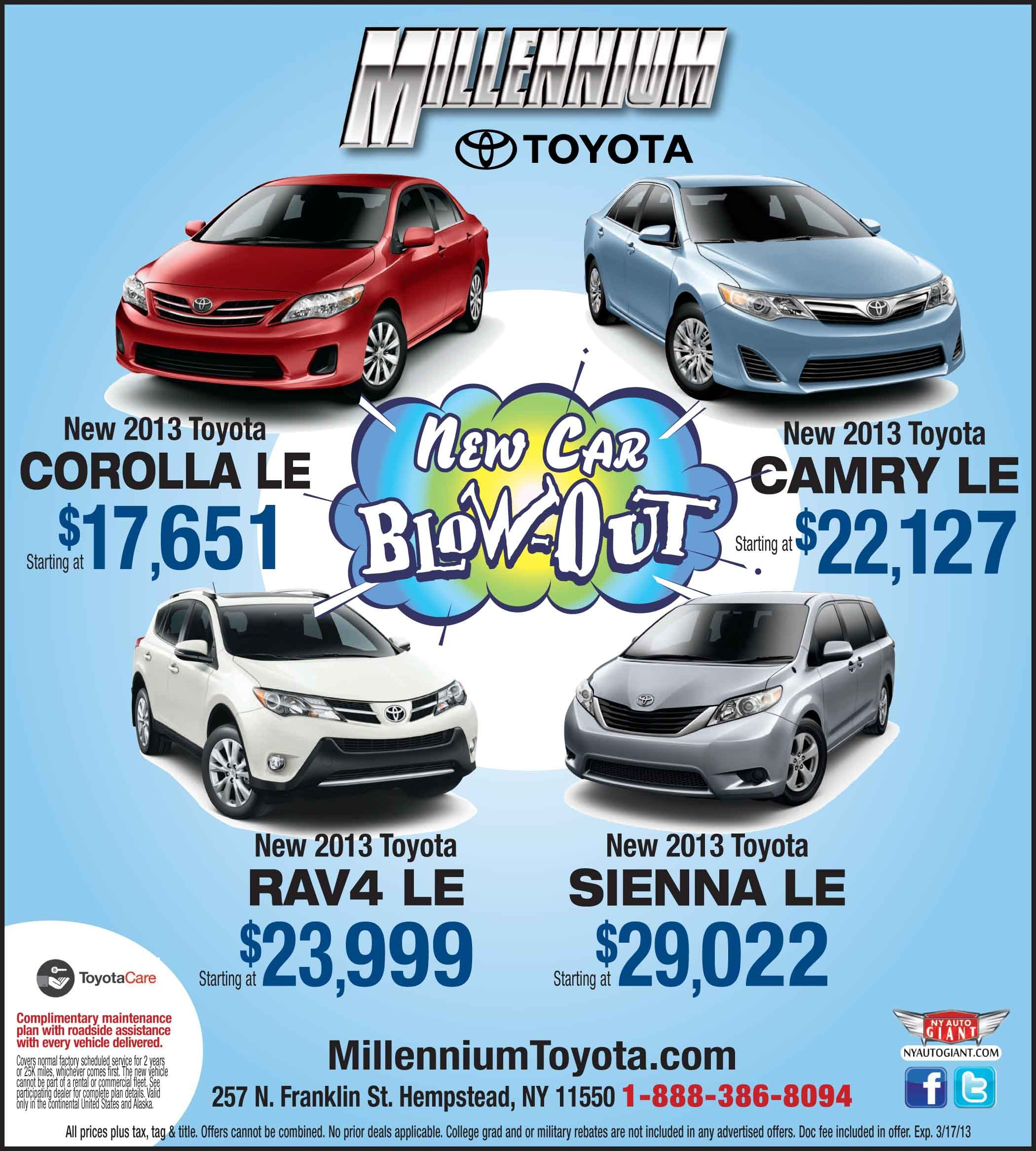 Find Over 700 New U0026 Used Toyota Models At Millennium Toyota, A Toyota  Dealership Serving Queens U0026 Garden City, NY. Visit Us Today To Get A  Fabulous 2017 ...