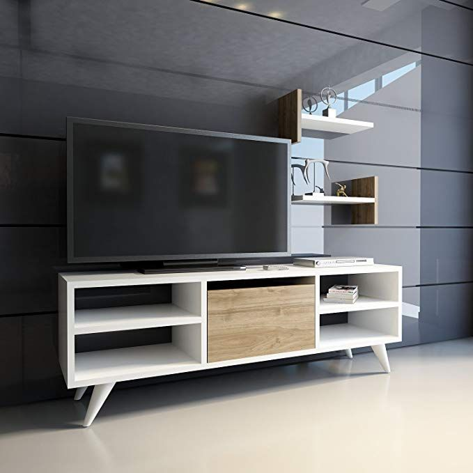 "Entertainment Center Accent Wall With Vinyl: AIFA 47"" Modern TV Stand Entertainment Center"