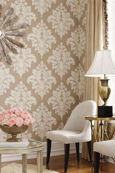 Damask Living Room Decor: The Chicest Wallpaper Inspiration From Pinterest