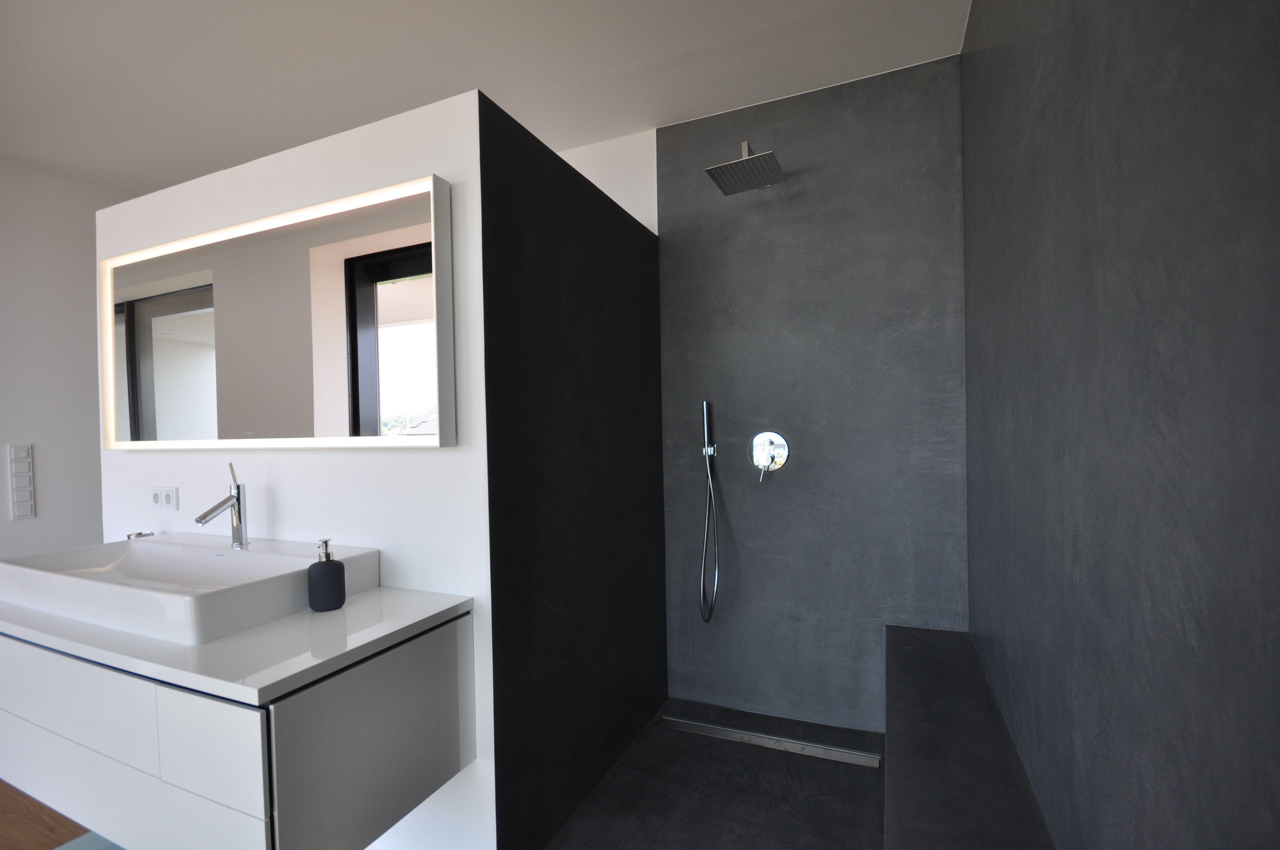 Designbad • Kalk-Marmor-Putz • Dusche • Black • fugenlos ...