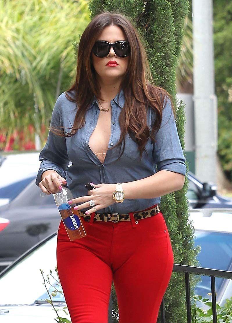 Skinny milf in sheer red panties that can