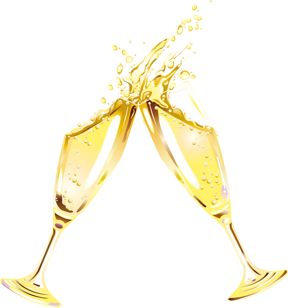 Champagne clipart transparent pencil and in color