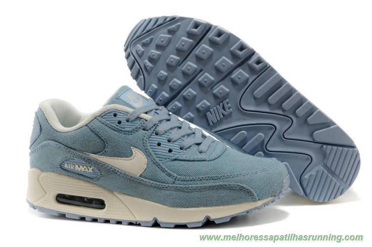 Denim Light Azul Nike Air Max 90 325213 168 novo tenis